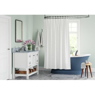 Microban Microfiber Fabric Single Shower Curtain Liner
