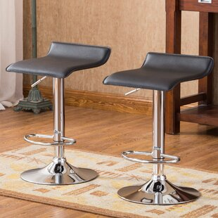 Mathison Adjustable Height Swivel Bar Stool Set of 2 by Wade Logan
