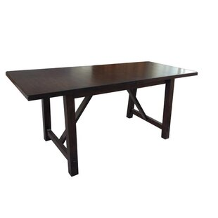 Alexandria Extendable Solid Wood Dining Table By Loon Peak