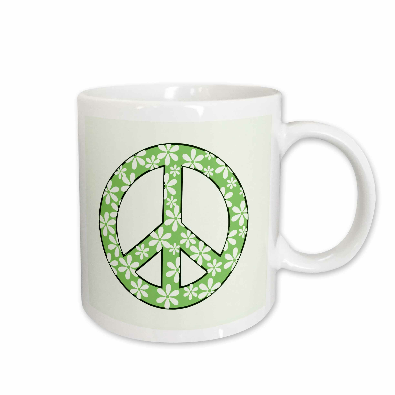 East Urban Home Daisy Peace Sign Coffee Mug Wayfair