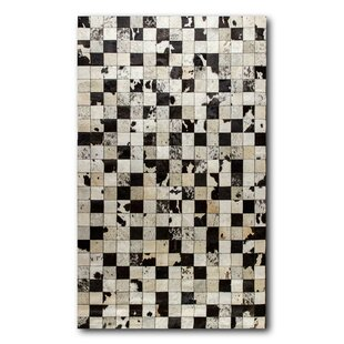 Best Reviews Baumann Patches Cowhide Black/White Area Rug By Foundry Select
