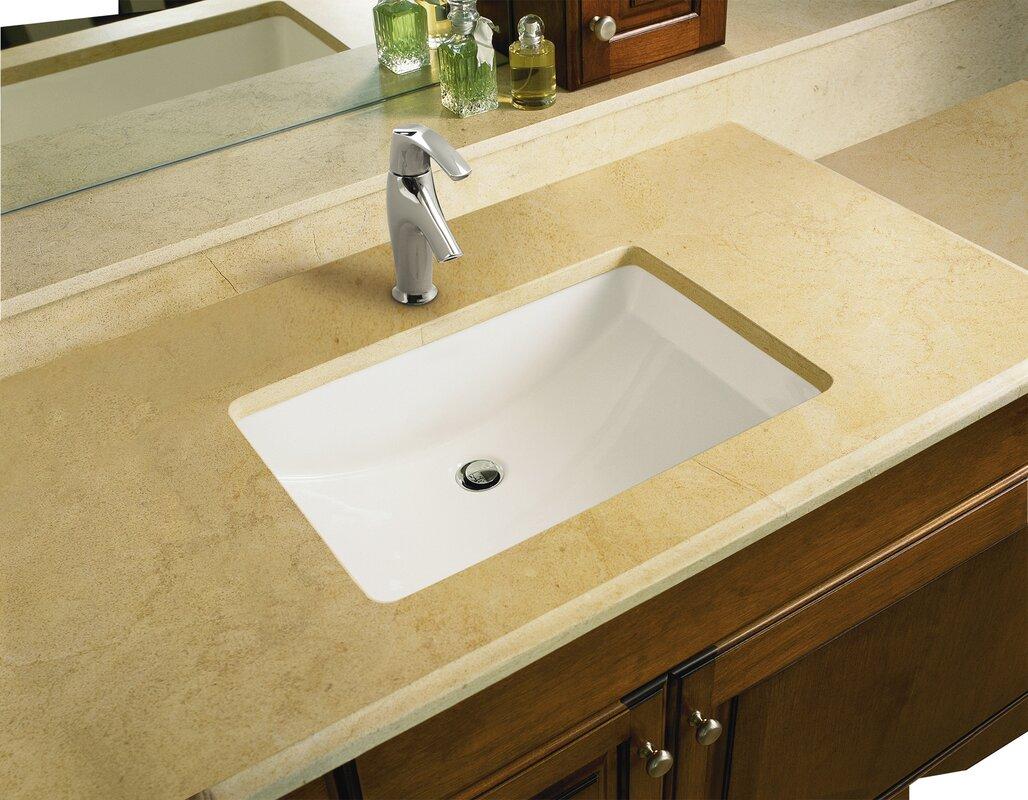 Superior Ladena Ceramic Rectangular Undermount Bathroom Sink With Overflow