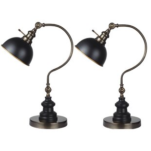 Garon 2 Point Adjustable Goose Neck 22 Table Lamp Set (Set of 2)