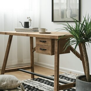 Ravenden Timber Solid Wood Desk by Gracie Oaks Reviews