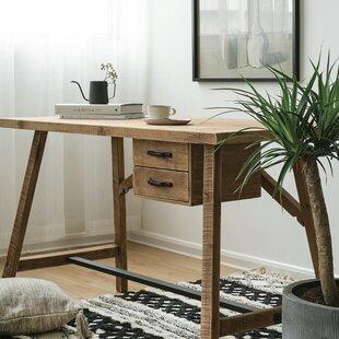 Ravenden Timber Solid Wood Desk by Gracie Oaks Modern