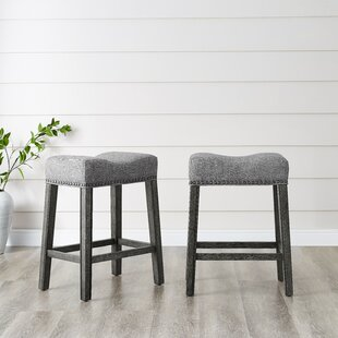 Prescot 24 Bar Stool (Set Of 2) by Gracie Oaks Spacial Price