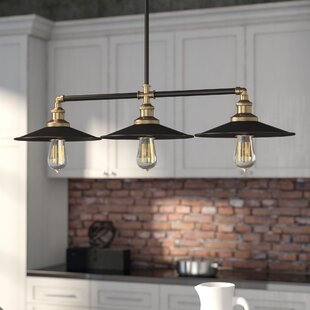 Kitchen island lighting youll love wayfair dobson 3 light kitchen island pendant aloadofball