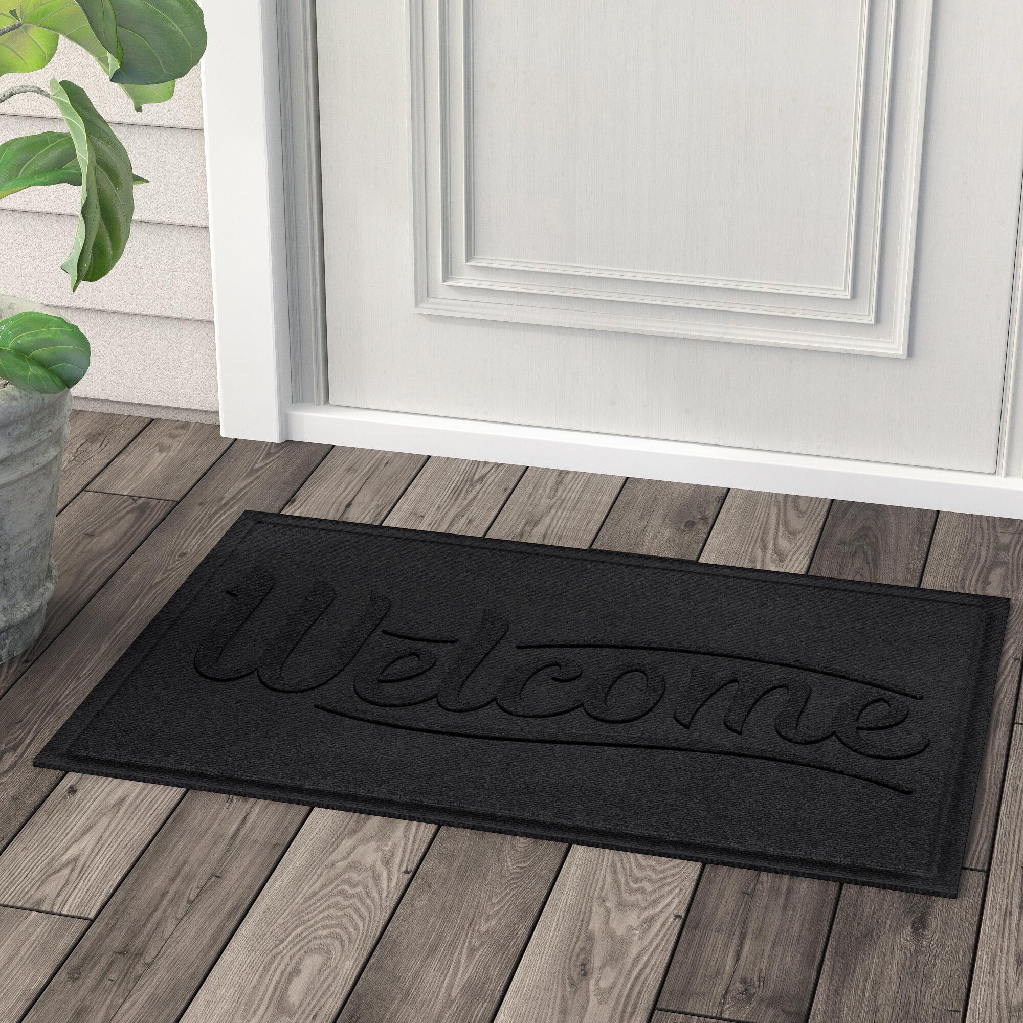 Red Barrel Studio Amald Simple Welcome 36 In X 24 In Non Slip Outdoor Door Mat Reviews Wayfair
