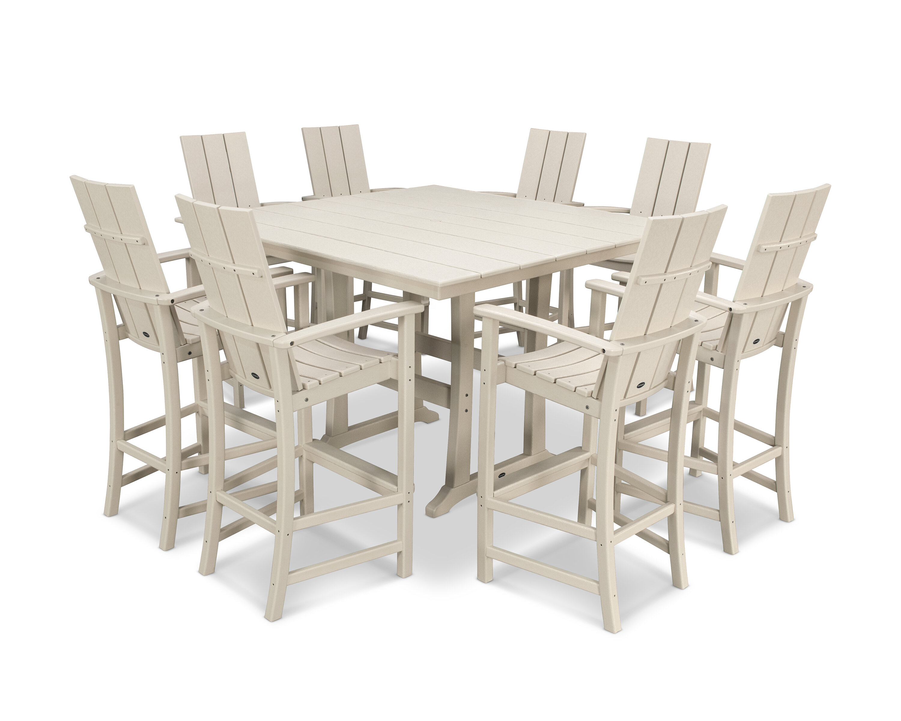 Square 9   Person 9.9'' Long Bar Height Dining Set