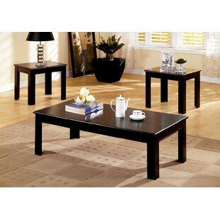 Winston Porter Nenita Transitional 3 Piece Coffee Table Set