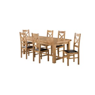 Apollonia Large Extending Dining Set With 6 Chairs By Gracie Oaks
