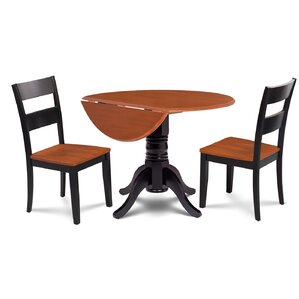 Chesterton Traditional 3 Piece Dining Set by Alc..
