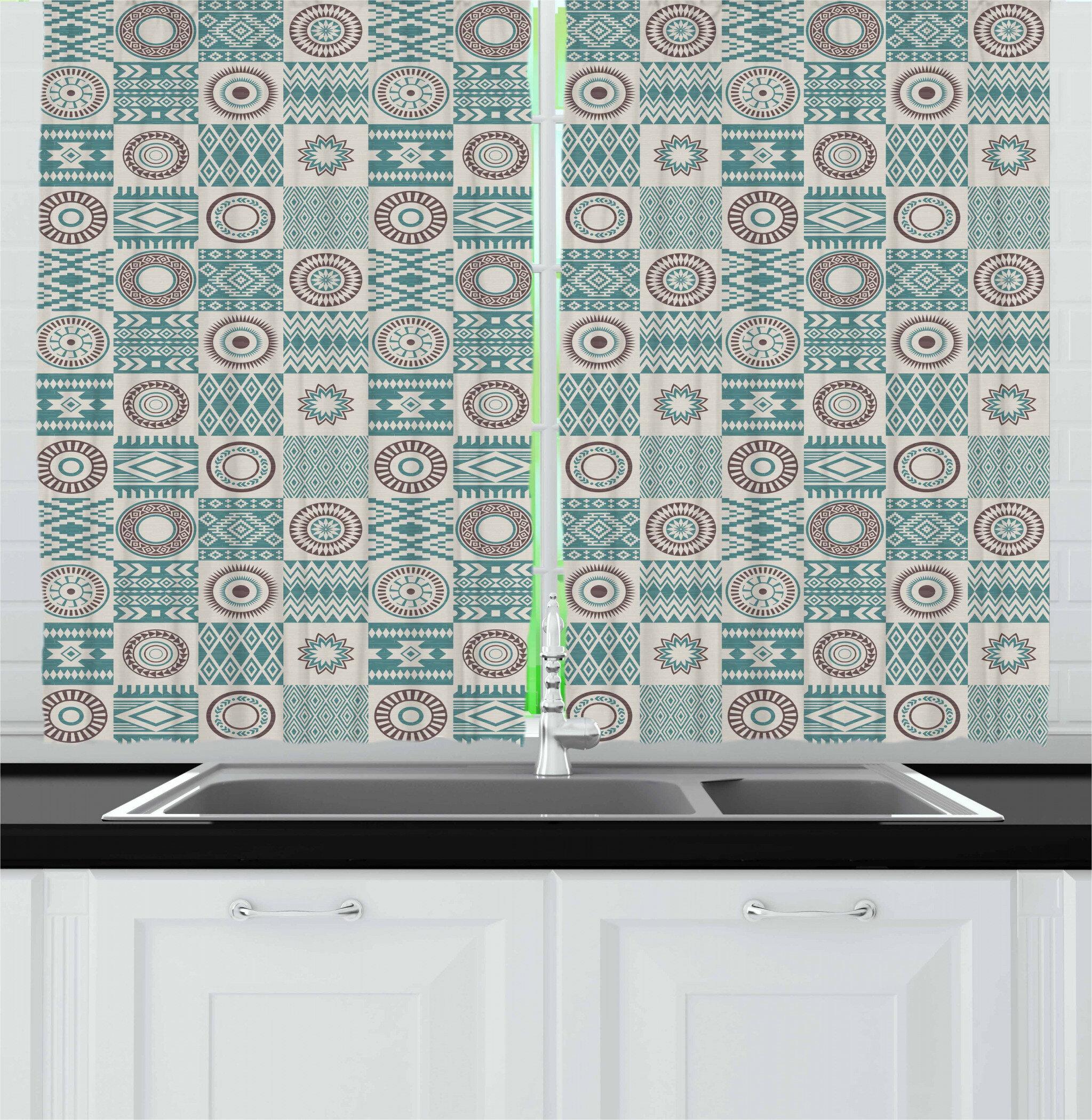 East Urban Home Afghan Kitchen Curtain Wayfair