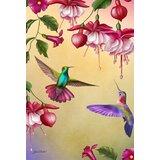 Thirsty Hummingbirds 28 x 40 inch House Flag