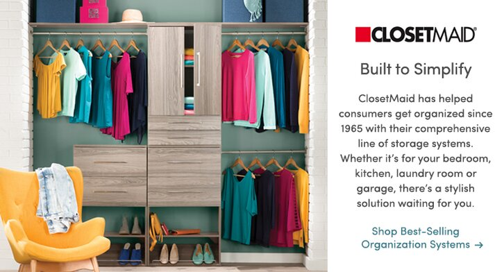 Decorative storage shop closetmaid by collection