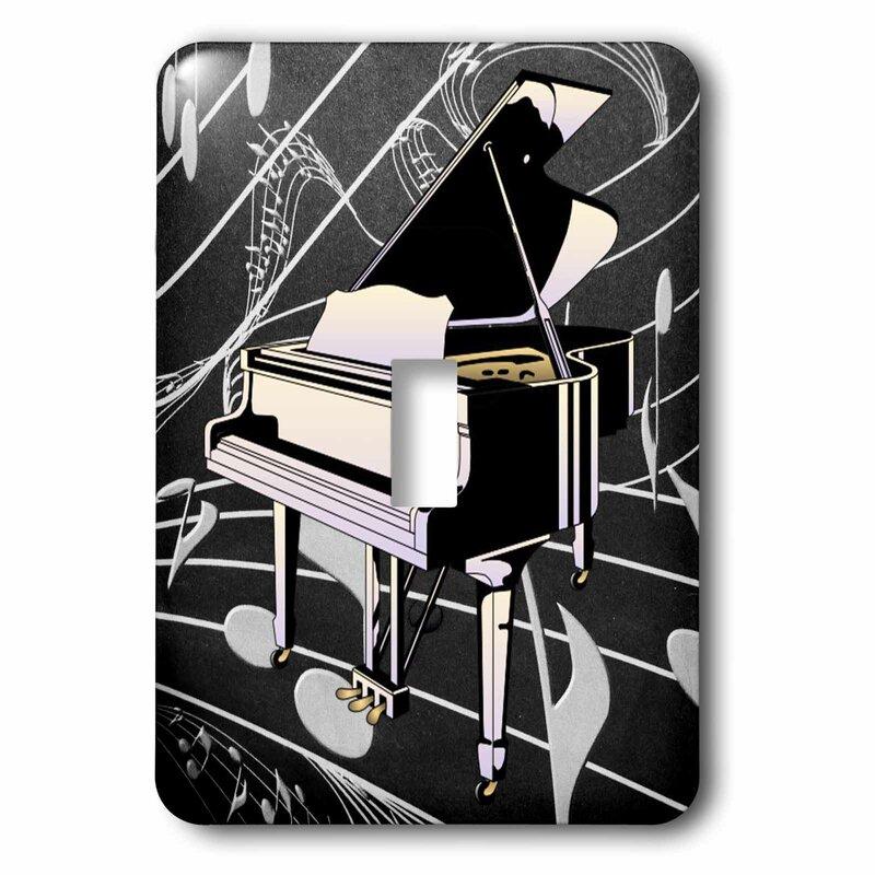 3drose Piano 1 Gang Toggle Light Switch Wall Plate Wayfair