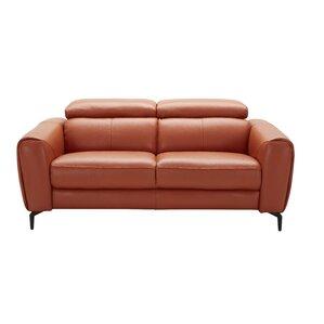 Orren Ellis Camptown Genuine Leather Loveseat