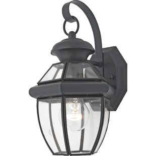 Three Posts Mellen 1-Light Incandescent Outdoor Wall Lantern (Set of 6)