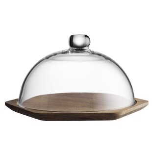 Modern Kitchen Glass Dome Cheese Board by Typhoon
