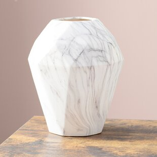 Dorfman Ceramic Marble Table Vase
