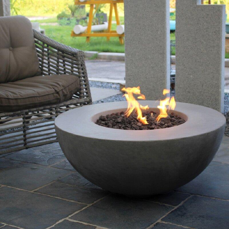 Orren Ellis Schoen Concrete Propane Natural Gas Fire Pit Reviews