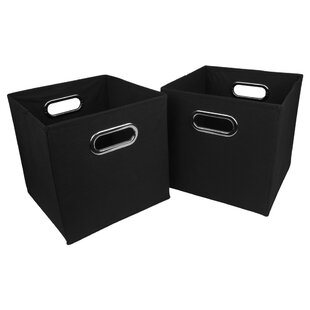 Comparison Foldable Fabric Storage Bin (Set of 2) By Rebrilliant