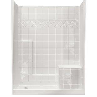 Top Reviews Standard 77 x 60 x 33 Three Panel Shower Wall ByElla Walk In Baths