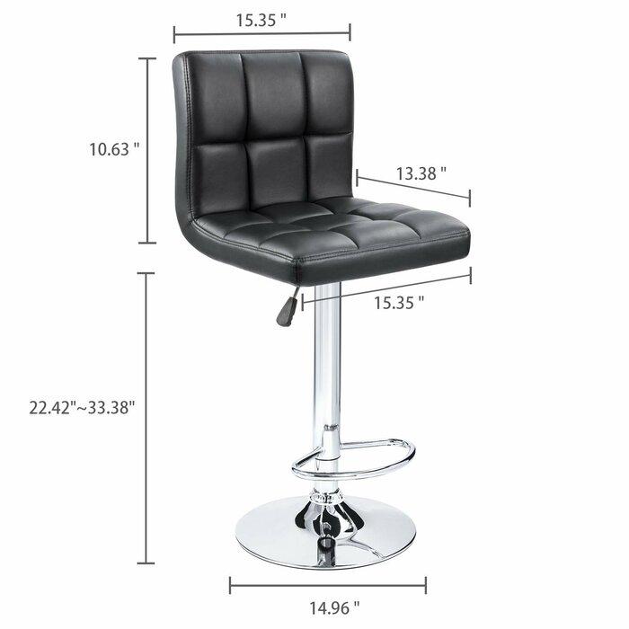 Outstanding Renea Adjustable Height 33 Swivel Bar Stool Unemploymentrelief Wooden Chair Designs For Living Room Unemploymentrelieforg