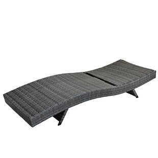 Westendorf All Weather Modern Outdoor Reclining Chaise Lounge with Cushion (Set of 2)