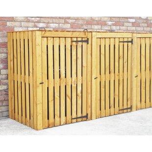 Custis Wooden Triple Bin Store By Rebrilliant