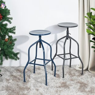 Josselyn Swivel Adjustable Height Bar Stool Set of 2