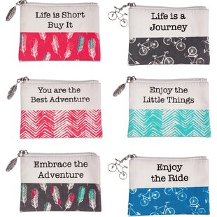 Top Reviews 18 Piece Small Enjoy the Journey Zippered Jewelry Pouch Set By Brayden Studio