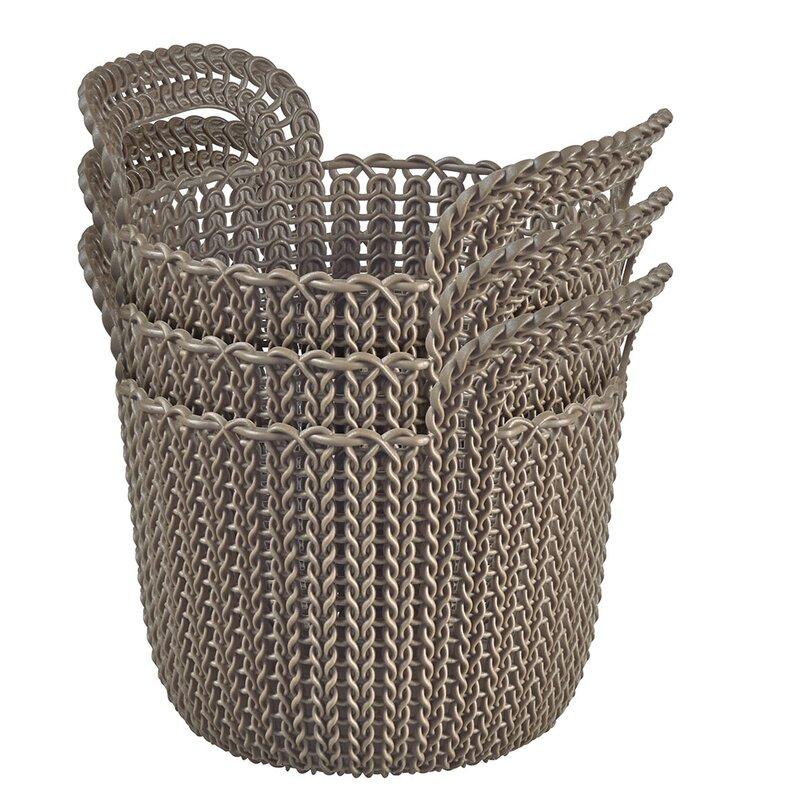 Keter Rattan Style 3 Drawer Cart.Keter Curver Plastic Basket Reviews Wayfair