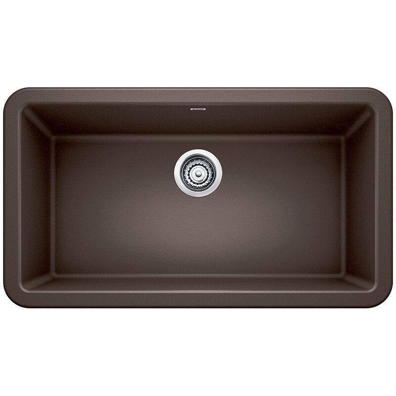 """Blanco Ikon 33"""" L x 19"""" W Farmhouse/Apron Kitchen Sink  Finish: Cafe Brown"""