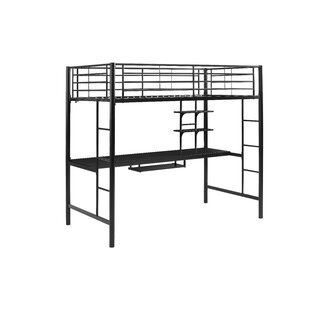 Joplin Twin Loft Bed with Desk and Bookcase by Mack amp Milo