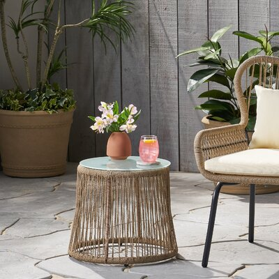 Mcclurg Glass Side Table by Bungalow Rose Best #1