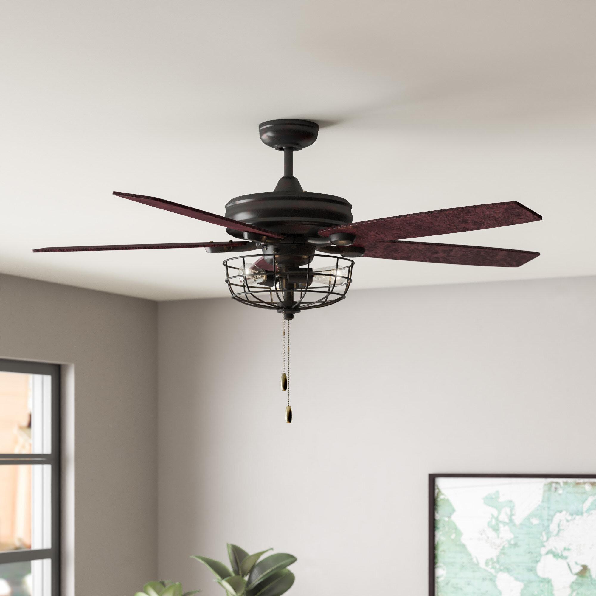 T Austin Design 52 Glenpool 5 Blade Ceiling Fan Light Kit Included Reviews Wayfair