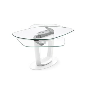 Orbital - Extension Table - Glossy Optic White Lacquer Wood Finish Frame/Legs - Matt Optic White Metal Frame/Legs