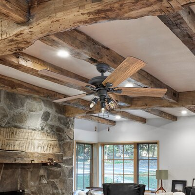 52 ravenscourt 5 blade led ceiling fan reviews birch lane 52 ravenscourt 5 blade led ceiling fan aloadofball Image collections