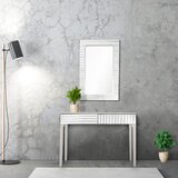 Houser 40 Console Table and Mirror Set by Everly Quinn