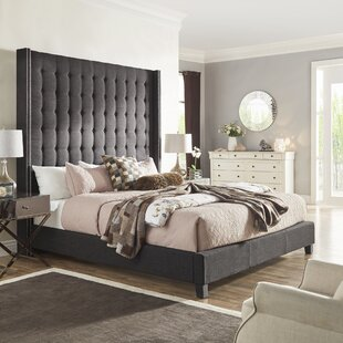 Rosdorf Park Luxullian Button Tufted Platform Bed