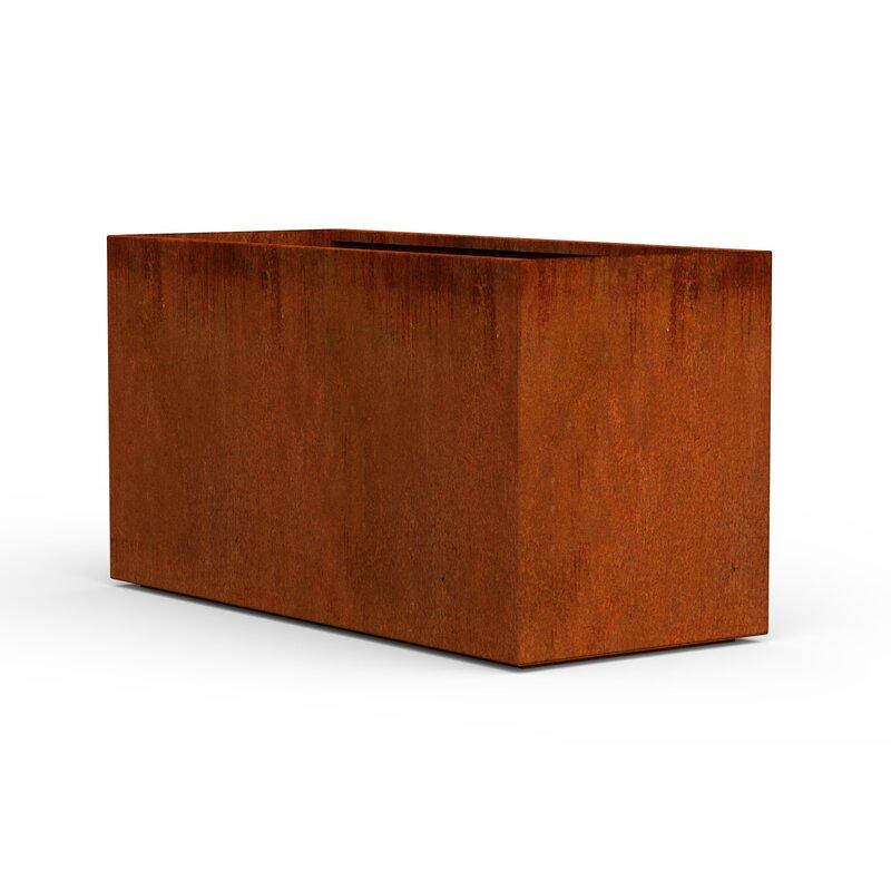 Red Barrel Studio Siegert Corten Steel Planter Box Wayfair