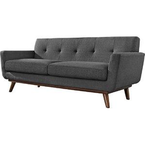 johnston tufted upholstered sofa - Grey Tufted Sofa