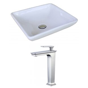 Price comparison Ceramic Square Vessel Bathroom Sink with Faucet ByRoyal Purple Bath Kitchen