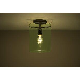 Besa Lighting Pahu 1-Light Semi Flush Mount