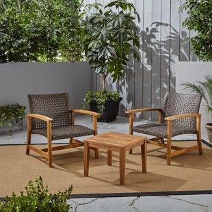 Warford Outdoor 3 Piece Rattan Seating Group