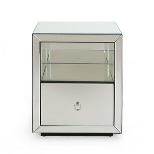 Walden Modern Mirrored 1 Drawer Accent Chest by Mercer41