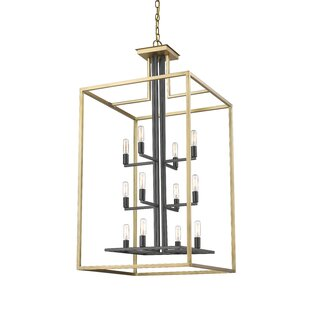 Read Reviews Bedsworth 12-Light Rectangle Chandelier By Ivy Bronx