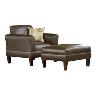 Carolina Accents Tracy Porter Armchair and Ottoman with Accent Pillow