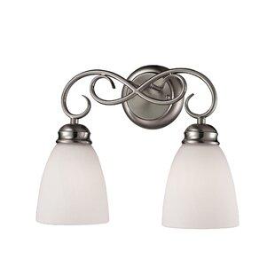 Clearance Wallace 2-Light LED Vanity Light ByFleur De Lis Living